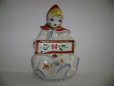 Hull Pottery Little Red Riding Hood Wall Hanging Planter Hard to Find Decal