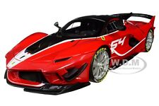 FERRARI FXX K EVO #54 MICHAEL LUZICH 1/18 DIECAST MODEL CAR BY BBURAGO 16908
