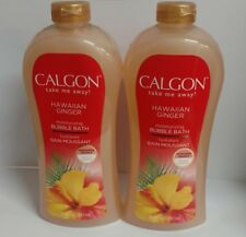 2/Pack - Calgon Moisturizing Bubble Bath, Hawaiian Ginger + Vitamin E, 30 Fl Oz