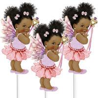3 Gold Tutu Princess Centerpieces African American Birthday Table Decor