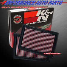 Two K&N 33-2381 Hi-Flow Air Intake Drop in Filters for 2007-2016 LS460 LS600h