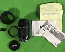 Nikon Nikkor AF 70-210mm F4-5.6 Lens w/ Cap, HN-24, Hoya 62mm, Manual - Untested