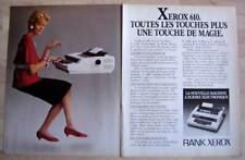 Publicité Papier - Machine À Écrire Électronique Rank Xerox De 1982