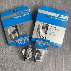 PAIR Shimano RT-M800 Disc 180 & 203 Plus Mounts - Centre Lock - RRP£130! E-Bike