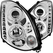 For INFINITI G35 03-05 2DR HEADLIGHTS CHROME PROJECTOR CLEAR HALO (CCFL) (HID)