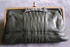 Clutch - Damenhandtasche - grünes Leder, elegant seit den 50ern - Retro