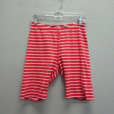 HANNA ANDERSSON Girls Orange White Stripe Cotton Short Pants Legging 140 9/10/11