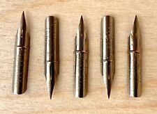 5 Vintage Howard Hunt 56 Round Pointed Dip Pen Nibs