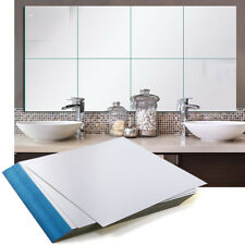 32pcs Self Adhesive Mirror Tiles Kitchen Wall Sticker Stick on 0.2/mm Decor