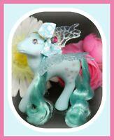 ❤️My Little Pony MLP G1 Vtg FLUTTER PONY Peach Blossom Blue Flower Fairy WINGS❤️