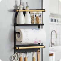 Metal Kitchen Rack Magnetic Refrigerator Storage Duty Fridge Organizer Shelf