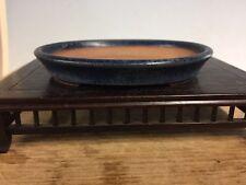 """Blue Glazed Shohin Size Bonsai Bonsai Tree Pot Made By Ito Tonyo 4 1/8"""""""
