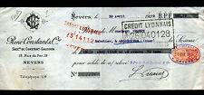 """NEVERS (58) MERCERIE CHAUSSURES """"CONSTANT & GAUDRON / René CONSTANT Succ"""" 1920"""