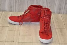 Supra Vaider High Top Sneaker-Men's Size 14 Red/White