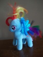 BLUE RAINBOW pegasus MY LITTLE PONY plush stuffed toy KEYCHAIN key chain gift