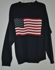 Unisex Olympic Sweater,  Retriever brand- Made in USA, American  Flag, S Small