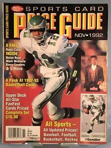 SCD Sports Card Price Guide November 1992 Randall Cunningham Cover/8 Card Insert