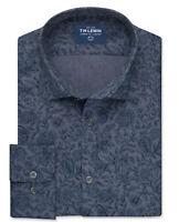 T.M.Lewin Liberty Fabric Sambourne Print Slim Fit Blue Single Cuff Shirt