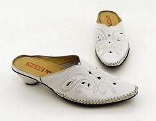 Pantoletten Pikolinos kleiner Trichter Vintage Echtleder weiß Gr. 39