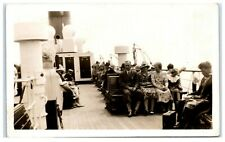 Vintage Picture Postcard Onboard steam ship Isle of Wight