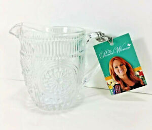 NEW the Pioneer Woman CREAMER Pitcher Adeline Collection CLEAR GLASS Pourer HTF