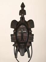 BC2 Senufo alte afrikanische Kpelye Maske / Masque Senoufo / Old tribal mask