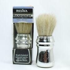 Regina Rasierpinsel Naturborsten Griff Silber #161