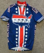 RARE AMERICAN BY BICYCLE PACE RETRO CYCLING JERSEY SHIRT XS EXTRA SMALL