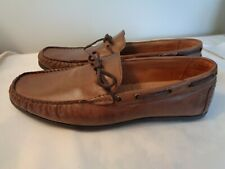 Men's GBX *Henley* tan leather driving shoes 11.5 D