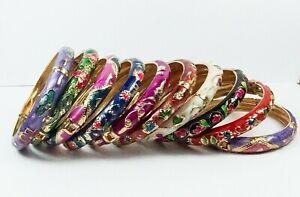 Women's Ethnic Enamel Cloisonne Bangle Bracelet Various Colours Jewellery