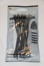 HICKIES charcoal dark Grey  NO TIE SHOE LACES LACING SYSTEM (14 ENOUGH 1 PAIR)