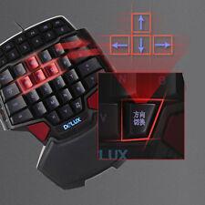 Pro Wired Professional Singlehanded Mechanical Gaming Keyboard Mini Keypad HOT