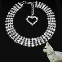 Rhinestone Pet Dog Cat Collar Crystal Puppy Bling Necklace Supplies Sale Su D0L8