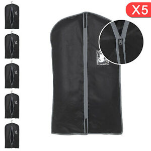5xBreathable ZipUp Hanging Suit Dress Coat Garment Bag Clothes Cover Dustproof A