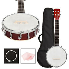 New Soild Sapele Material 4 String Banjo with Bag and Accessories for Beginner