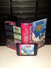 Super Fantasy Zone Game for Sega Genesis! Cart & Box!