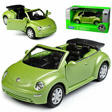 VW Volkswagen New Beetle Cabriolet 9C Green Open 1997-2010 Ca 1/43 1/36-1/46