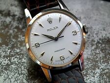 Just Beautiful 1960 Solid 9ct Gold Mid-Size Rolex Precision Ladies Vintage Watch