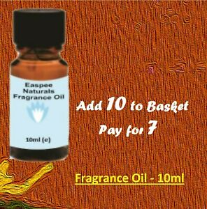 10ml Fragrance Oils- Buy 7 Get 3 Free- for Candles, Diffusers, Oil Burners etc