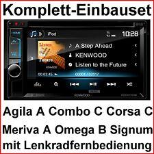 Komplett Set Opel Corsa Omega Vectra Kenwood DDX-4017DAB Bluetooth CD USB DVD