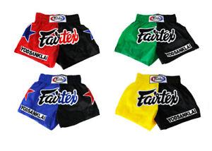 Fairtex MMA Boxing shorts Yodsanklai Signature Muay Thai Shorts Black Green Red
