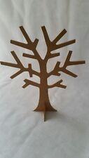 3D MDF Wooden Jewellery Tree Freestanding  Display Stand Plain Raw Unpainted