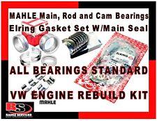 VW Typ1 Engine Rebuild MAHLE Standard Main, Rod & Cam Bearings & Elring Gaskets