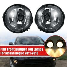 Pair Front Bumper Fog Light Lamps H11 Bulbs For Nissan Rogue 2011 2012 2013