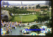 Disneyland 1958 Story Book Land Boats Railroad Fantasyland 35mm Slide Kodachrome