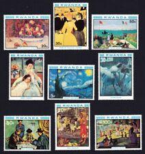 Rwanda Impressionists Paintings 9v 1980 ** MNH SG#996-1004 SC#983-991