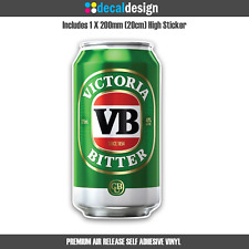 VB Beer Can Sticker for Car Window Boat Camping Man Cave Fridge Garage Trailer
