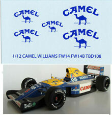 1/12 CAMEL WILLIAMS RENAULT FW14 FW14B TAMIYA DECALS TB DECAL TBD108
