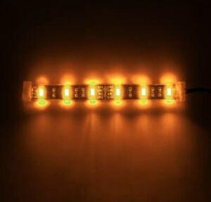 Pair Of Orange Flexible LED Light Strip for PC Cases 30cms 18 LEDs