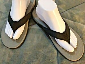 Orthaheel Thong Sandals Gray / Black  Women's Size 10
